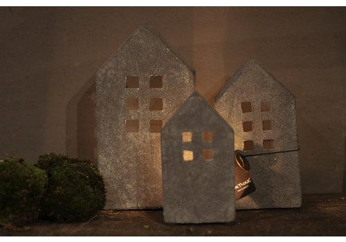 Brynxz Brynxz stenen huisje waxinelicht - maat S