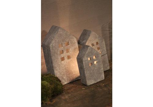 Brynxz Brynxz stenen huisje waxinelicht - maat M