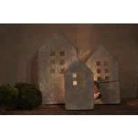 Brynxz stenen huisje waxinelicht - maat L
