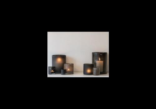 Dutz DUTZ cilinder windlicht smoke-black 19 cm