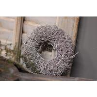 Mini twig krans White wash 15cm