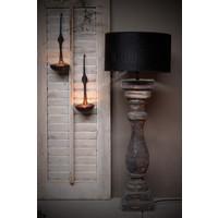 Dikke baluster lampvoet Greywash M