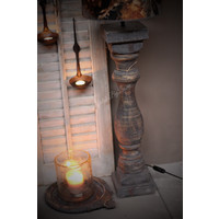 Dikke baluster Lampvoet Greywash L