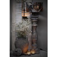 Dikke baluster lampvoet Greywash - maat L