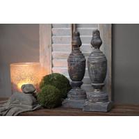 Houten ornament Grey wash 30 cm