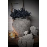 Unieke stenen kruik met oren Pat 37 cm