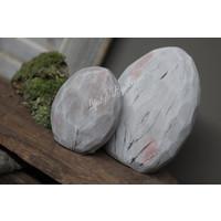 Platte stenen ei 10cm
