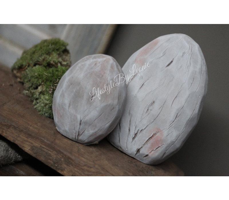 Platte stenen ei 10 cm