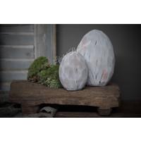 Platte stenen ei 15 cm