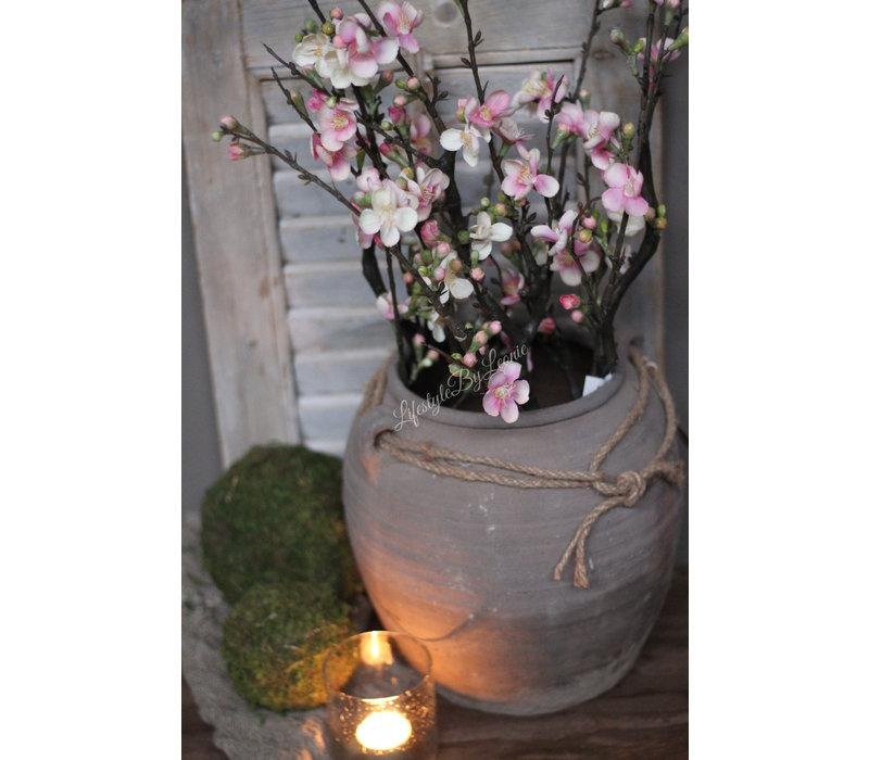 Zijden bloesemtak pink 73 cm