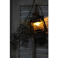 Roestige led lantaarn 'Oil' 20cm