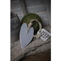 Mijn Stijl zeephanger hart herbel grey XL