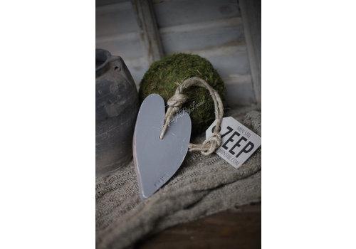 Mijn Stijl Mijn Stijl zeephanger hart herbel grey XL