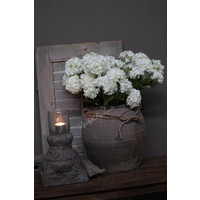 Zijden Hortensia Annabelle tak white 60 cm