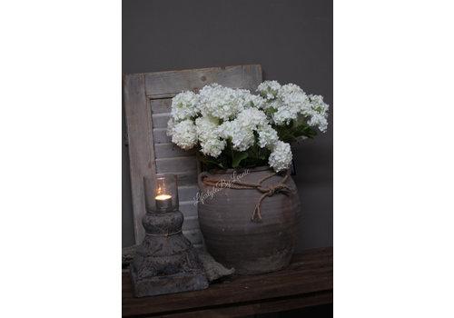 Zijden hortensia tak 'Annabelle' white 60cm
