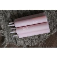 Dinerkaarsen lichtroze 11 cm - 5 stuks