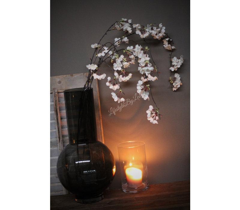 Zijden hangende bloesemtak white 109 cm
