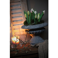 Namaak Tulpen in pot roze 22 cm