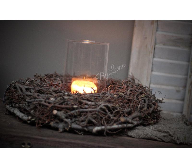 Krans wilde Bonsai bruin 45 cm
