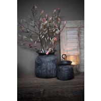Stenen pot / kruik Indonesië zwart 25 cm