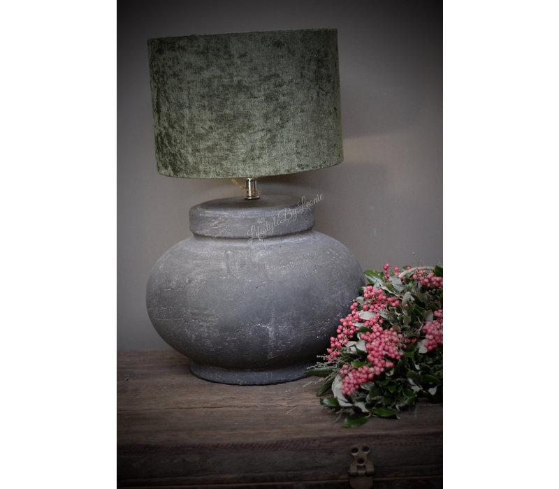 Stenen kruik lampvoet Geneve grijs 30 cm
