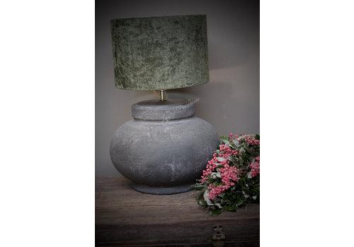 Velvet cilinder lampenkap Moss green 25 cm