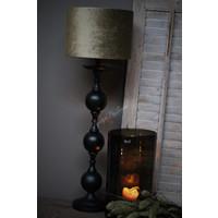 Velvet cilinder lampenkap Olive 30 cm