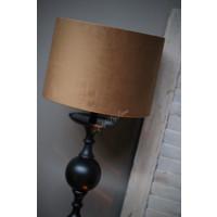 Velvet cilinder lampenkap Caramel 30 cm