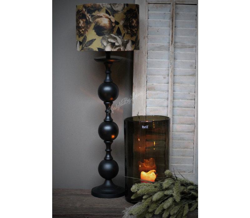 Lampvoet bol sierlijk mat zwart 70 cm