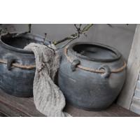 Oude Chinese kruik met touw en 4 oren