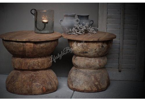 Authentiek vijzel (bijzet) tafel