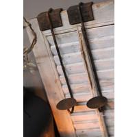 Smeedijzeren hangkandelaar stompkaars 38 cm