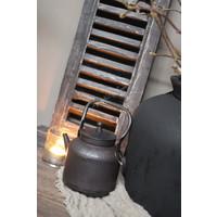 Oude metalen ketel / theepot 17 cm