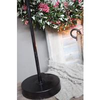 Zwart metalen lampvoet Old chiq 40 cm
