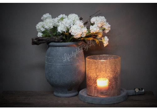 Zijden hortensia tak Annabelle white 60 cm