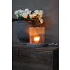Brynxz Brynxz glazen windlicht steenslag helder 23 cm