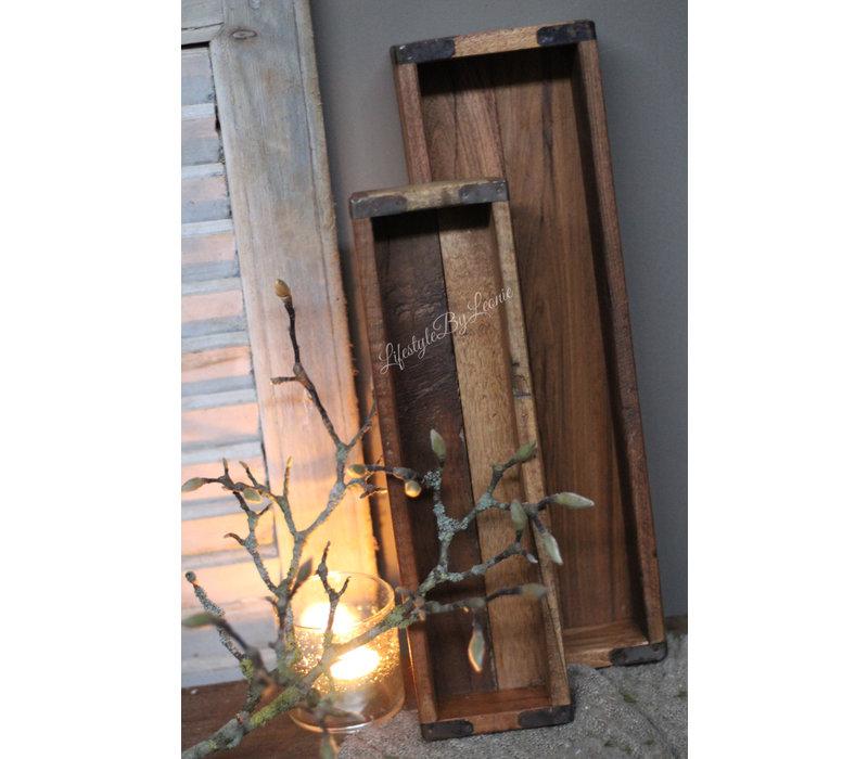 Set van 2 houten trays 43 - 36 cm