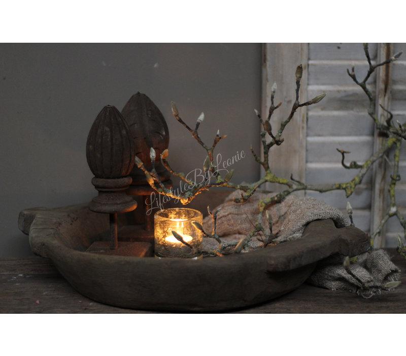 Houtsnijwerk ornament Pine op voet