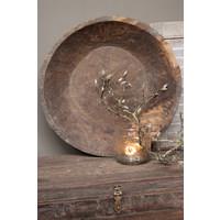 Ronde unieke houten schaal XL