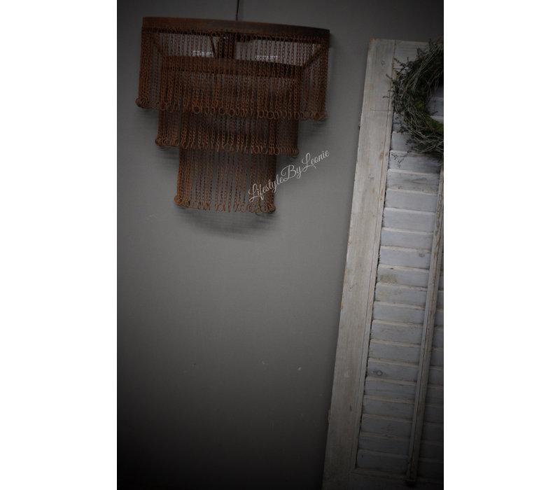 IJzeren wandlamp Chain roest