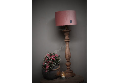 Brynxz Brynxz velvet cilinder lampenkap Old pink 25 cm