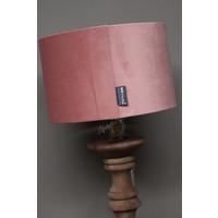 Brynxz velvet cilinder lampenkap Old pink 25 cm