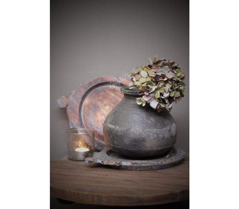 Houten Indiase schaal Old grey 29 cm