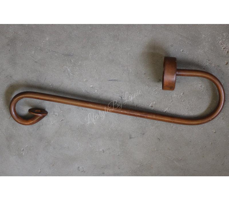S-kandelaar waxinelichthouder Roest 30 cm