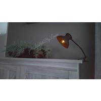 Roest klemlamp met LED en timer 40 cm
