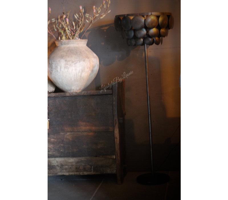 Vloerlamp schijfjes old black 150 cm