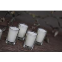 Set kaarsjes in glas White