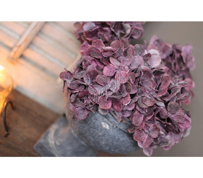 Namaak Hortensia iced mauve 48 cm