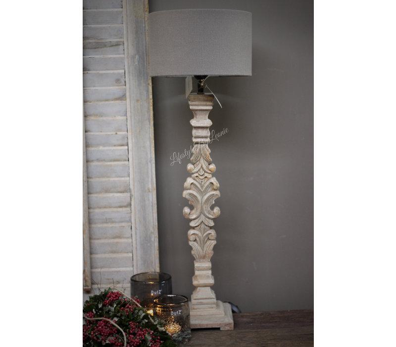 Aura Peeperkorn houtsnijwerk lampvoet 68 cm