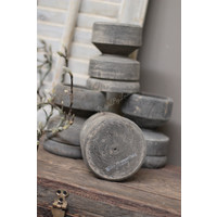 Aura Peeperkorn grijs houten kandelaar
